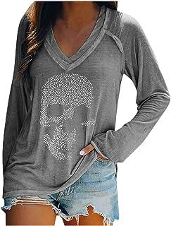 Women's V Neck Long Sleeve T-Shirt Blouses, Fashion Buttons Tunic Tops Casual Loose Pullover Sweatshirt Tops, Elegant Shir...