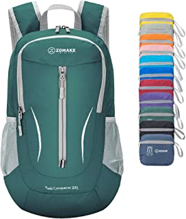 ZOMAKE Ultra Lightweight Packable Backpack, 25L Small Water Resistant Hiking Daypack Foldable Travel Backpack for Men Wome...