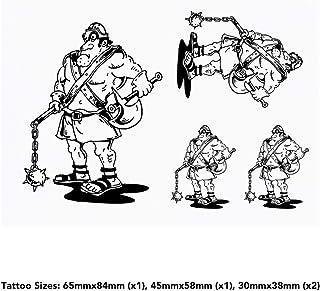 4 x 'Gladiator' Temporary Tattoos (TO00035943)