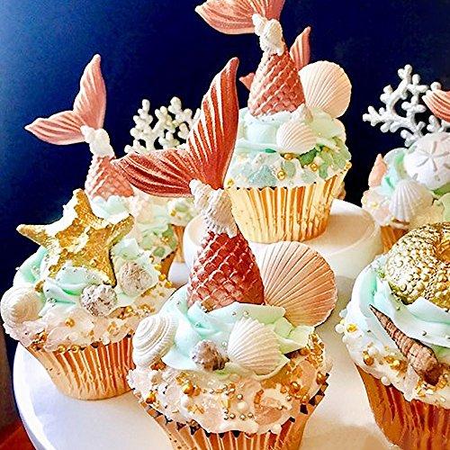 IHUIXINHE Silicone Cake Mould Fondant Molds Silicone Baking Molds (Pink Mermaid)