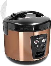 Navaris 1,2 liter rijstkoker - 500 Watt 220V - opwarmfunctie - met lepelstoominzet meetbeker - voor maximaal 6 personen - ...