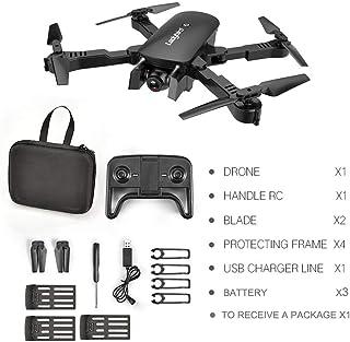 MoJoyo R8 Drone HD 4K Antena de Cuatro Ejes Aeronave Aeronave de Doble cámara con 3 baterías, Flujo de luz Negra