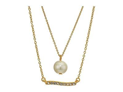 J.Crew Perla Charm Necklace Set (Pearl) Jewelry Sets