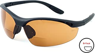 Calabria 91348 Bi-Focal Safety Glasses UV Protection in Copper +3.00