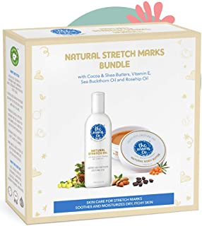 The Moms Co. 7 in 1 Natural Stretch Bio Oil (100ml) and Natural Body Butter (100g) For Preventing Stretch Marks