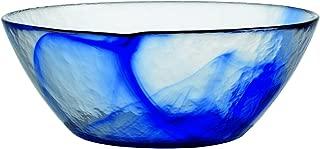 Bormioli Rocco Murano Glass Salad and Soup Serving Medium Bowl, 9-Inch, Blue, Set of 4