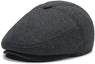 قبعات رجالي دافئة من الصوف تويد ذات غطاء مسطح قبعة أيفي جاتسبي نيوزبوي قبعة شتوية
