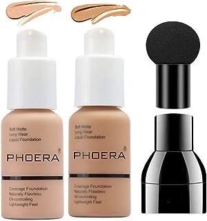 PHOERA Foundation Makeup, Firstfly 37ml Matte Oil Control Concealer Foundation Cream, Long Lasting Waterproof Matte Liquid...