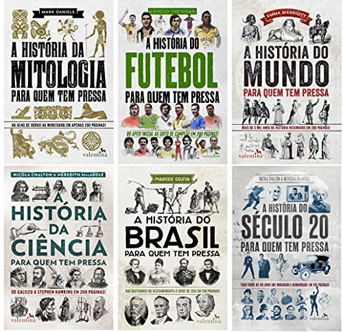 Coleção A História para Quem tem Pressa - 6 vol: Mitologia, Ciência, Mundo, Brasil, Futebol e Século 20
