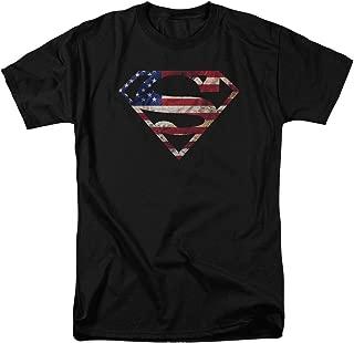 Superman Super Patriot DC Comics Justice League Adult Mens T-Shirt Black