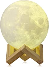 CPLA Upgraded Version Seamless 3D Lamp led Night Touch Control Moon 3000K 6000K Rechargeable Home Decorative Light 5.8inch, 5.8 Inch