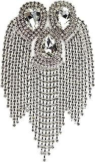 SKREOJF Perlé Diamant Eau Conception Design Patchs Cristal Franges Gland strinestes épaules Badges Broches Femmes Robe App...