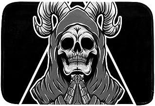 Bill Arnold Cráneo de Oración En El Área del Triángulo Alfombras Alfombras Tapetes Antideslizantes Alfombrillas para Sala de Estar Dormitorio,59X39In