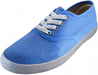 EasySteps Women's Canvas Lace Up Shoes with Padded Insole, Sky Blue, US Women's 6 B(M) US