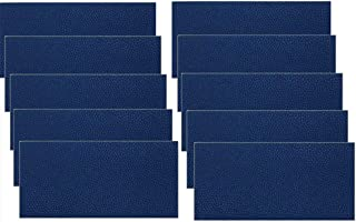 Leather Repair Patch,Leather Adhesive Kit First-aid Adhesive for Sofas Car Seats Adhesive Handbags Jackets, 10 pcs (Navy Blue)
