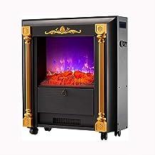 XHHWZB Calentador eléctrico de Chimenea Estufa con 3D Realista Llama Efecto, Negro