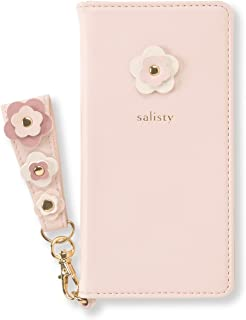 salisty P iPhone8/7/6s/6 ケース 手帳型 フラワースタッズ [ベビーピンク]