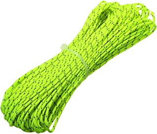 ThreeBulls 1.8mm Fluorescent Reflective Guyline Tent Rope Camping Cord Paracord, 65 Feet