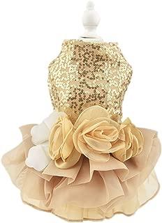 Biling Dog Dress Tutu Skirt Flower Dog Pet Cat Luxury Princess Wedding Dress Summer Dog Chihuahua Clothes
