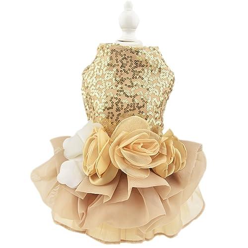 555d54d1cd67 Biling Dog Dress Tutu Skirt Flower Dog Pet Cat Luxury Princess Wedding  Dress Summer Dog Chihuahua