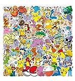 WayOuter Autocollants Pokemon 100pcs Stickers Pack vinyles pour ordinateur portable, enfants, voitures, moto, vélo, Skateboard bagages, Bumper Stickers hippie autocollants Bomb étanche