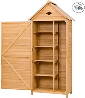 Outdoor Wooden Storage Hutch Single Door Shed Only by eight24hours + SPECIAL GIFT