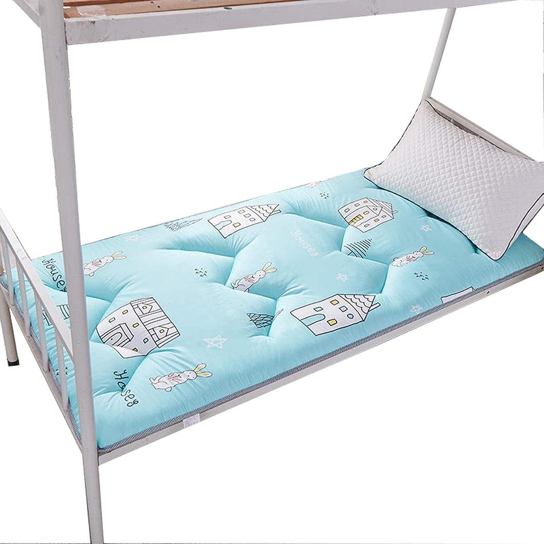 All Cotton Mattress Pad, Quilted Hypoallergenic Folding Futon Mattress Folding Floor Mattress Sleeping Tatami Floor mat for Dorm Bedroom Yoga,B,90  200cm