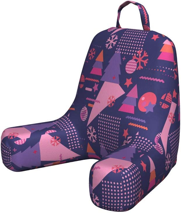 Ambesonne Geometric Manufacturer direct Limited Special Price delivery Bedrest with Back Pocket P Christmas Themed