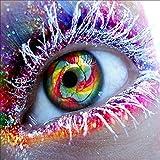 Generisch Juego de cuadros de pintura de diamantes 5D, juego de pintura de ojos de colores, 30 x 30 cm, para manualidades, mosaico, manualidades completas, pintura de diamante