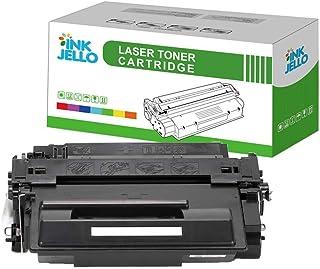 InkJello Compatible Toner Cartucho Reemplazo por HP Laserjet Enterprise 500 Flow MFP M525c M525dn Enterprise 500 MFP M525f Enterprise P3015 P3015d P3015dn P3015x M521dn M521dne M521dw CE255A (Negro)