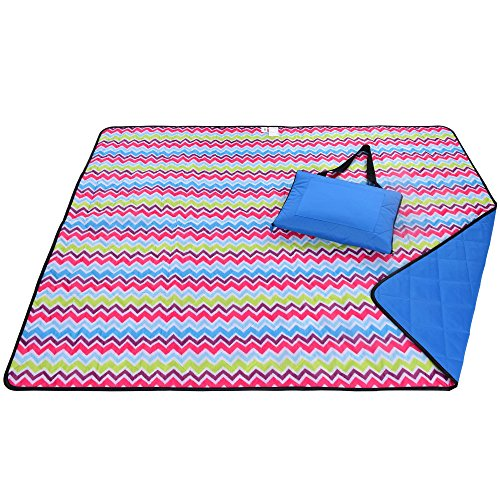 Roebury Outdoor Picknickdecke für die Ganze Familie 180 x 140 cm - Wärmeisoliert & Wasserresistent mit Tragegriff. Campingdecke Stranddecke Reisedecke für Jeden Untergrund