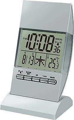 誠時(セイジ) 目覚まし電波時計 RC illumination Clock イルミネーションクロック シルバー RW-005SI