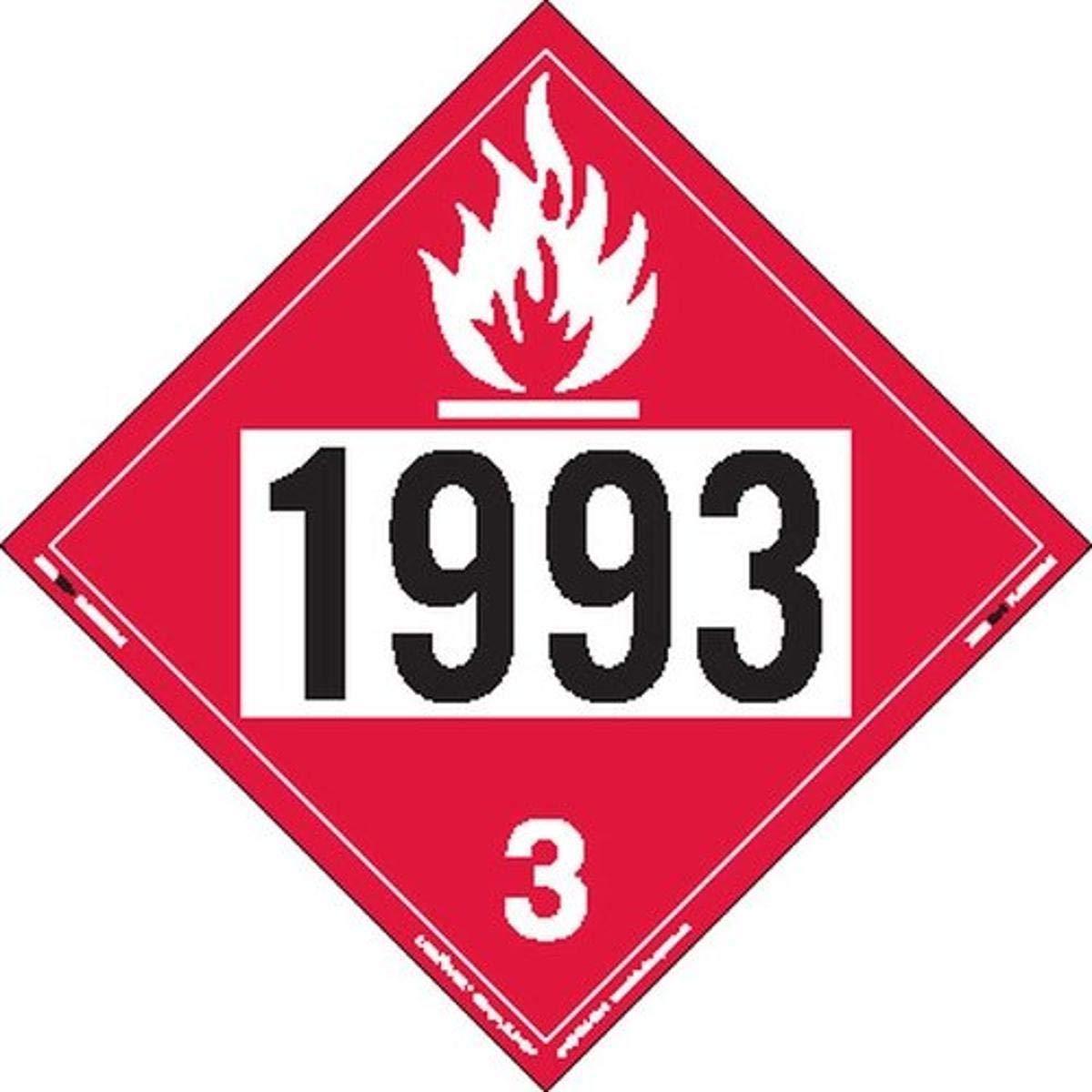Labelmaster Max 56% OFF ZRV21993 Ranking TOP1 UN 1993 Flammable Ri Liquid Hazmat Placard