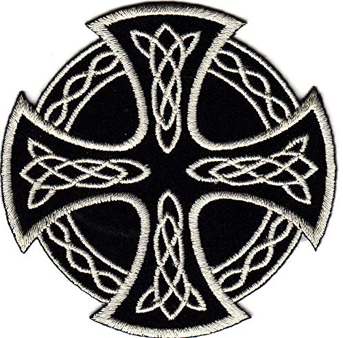 CELTIC CROSS IRON ON PATCH/Bikers, Retro, Goth, Boho, Punk, Symbols