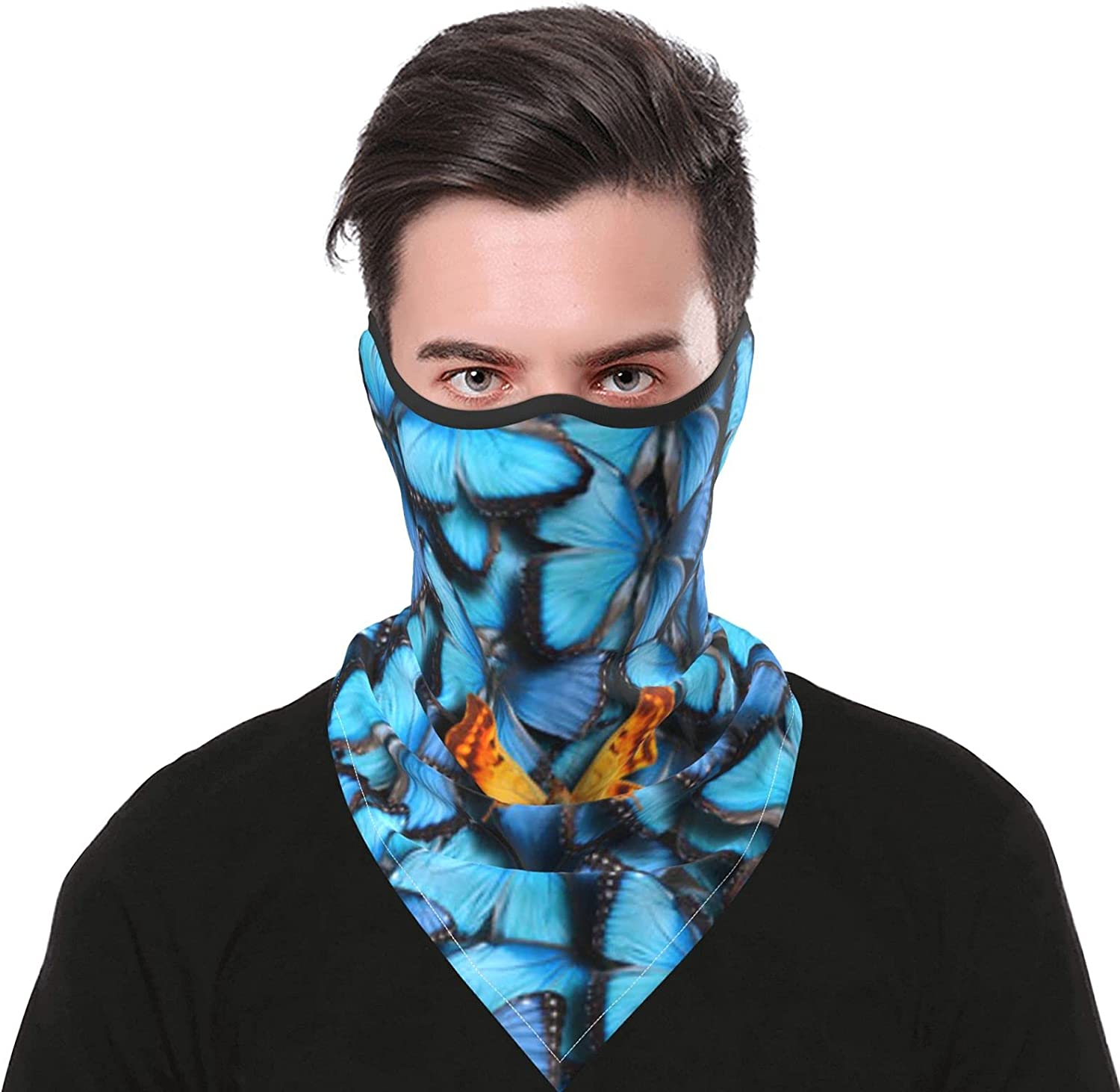 Butterflies-1 Breathable Bandana Face Mask Neck Gaiter Windproof Sports Mask Scarf Headwear for Men Women Outdoor Hiking Cycling Running Motorcycling