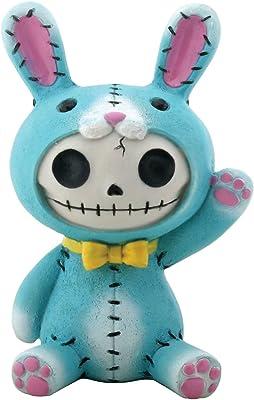 Furry Bones Blue Bun-Bun Bunny Figurine