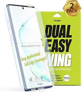 Ringke Dual Easy Wing Film [2 Pack] Kompatible med Samsung Galaxy Note 10 Plus Full Täckning Skärmskydd, Antifingeravtryck...