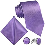 GASSANI - Corbata para hombre (3 unidades, 8 cm de ancho) Fliederviolette | Violett Medium