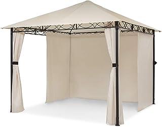 blumfeldt Mondo – Pabellón de jardín, Carpa para Fiestas, tamaño: 2,95 x 2,6 x 2,95 m, 4 Paredes, EasyMount Concept, resiste al Mal Tiempo: UV/Viento/Lluvia, Beige