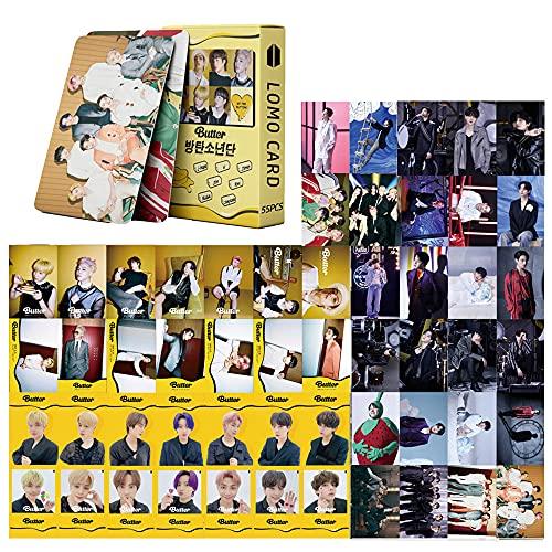 Bts Lomo Cards 55 unids bts nuevo álbum mantequilla lomo tarjeta Bangtan Boys postal...