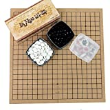 Inhyo GO Set and Chinese Korean Chess at Back Side / Go Board Games/ Go Stones Xiang-qi Board Game / baduk and janggi Sets