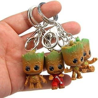Klauee Portachiavi Groot, 4 Pezzi Guardiani della Galassia Groot, Regalo Perfetto per Amici e parenti