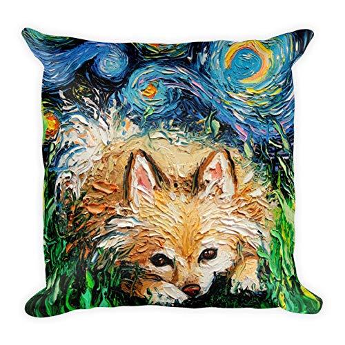 Qui556 Pomeraanse nacht gooien kussensloop hond liefhebber telefoon beschermer sterrenhemel nacht kunst