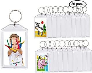 20pcs Snap-in Custom Personalised Insert Photo Acrylic Blank Keyring Keychain Wholesale(Size:2