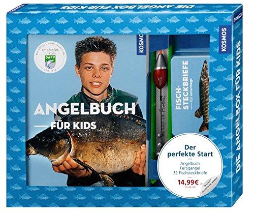 Die Angelbox für Kids: Der perfekte Start: Angelbuch, Fertigangel, 32 Fischsteckbriefe