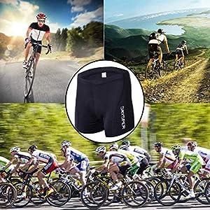 SKYSPER Calzoncillos Ropa Interior Ciclismo para Hombres Culote Pantalones Cortos Deportivos Gel 3D Acolchada para MTB Ciclismo Bicicleta al Aire Libre Transpirable Secado Rápido