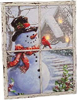 framed snowman pictures