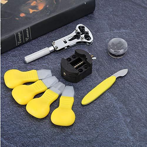 DAUERHAFT Reemplazo de la batería del Reloj Kit de reparación de Reloj de 25 Piezas Kit de Herramientas de Reloj de 25 Piezas Abridor de Caja de Reloj Soporte de Reloj Palanca de Reloj