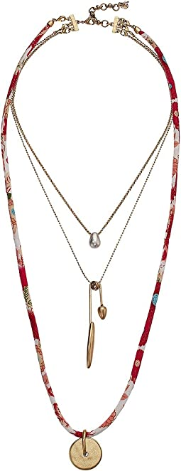 Lucky Brand Fabric Layer Necklace