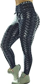 Womens 3D Print Yoga Skinny Pants Workout Gym Leggings High Waist Fitness Sports Cropped Pants